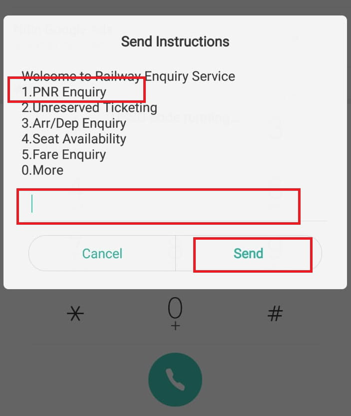 Pnr enquiry number